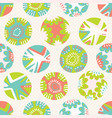 bright flower polka dot pattern seamless vector image vector image