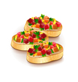 Bruschetta isolated on white vector image vector image