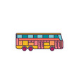 bus icon cartoon style vector image