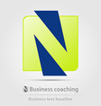 Business coaching business icon vector image
