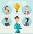 businesswomen discussing business ideas vector image vector image