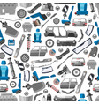 car spares and auto parts seamless pattern vector image vector image