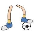 Cartoon foot player vector image vector image