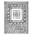 ceiling panel typical roman panel vintage vector image vector image