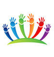children unity hands icon vector image