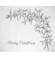 Christmas mistletoe doodle vector image vector image