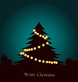 Christmas Tree With lighting Decoration vector image vector image