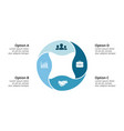 circle infographic cycle diagram round vector image vector image