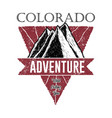 colorado adventure logo vector image