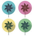 colorful pinwheel flat icons set vector image