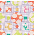 design fabric with geometric shapes vector image vector image