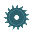 Disc saw blade metal industry tool circular vector image