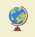 earth globe model vector image vector image