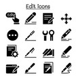 edit icon set graphic design vector image vector image