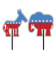Elephant and donkey Symbols of Democrats and vector image
