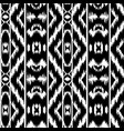 ethnic striped black and white seamless pattern vector image