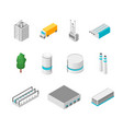 factory set isolated on a white background 3d vector image vector image