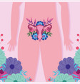 female human reproductive system women body vector image vector image