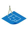 floor plan icon isometric 3d style vector image