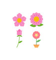 flower icon design template isolated vector image vector image