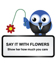 Flowers sign vector image vector image