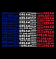 france flag collage of dream words vector image vector image
