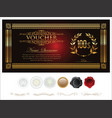 gift certificate retro vintage template 2 vector image vector image