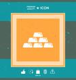 gold bullion gold bar icon vector image vector image