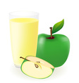 green apple juice vector image