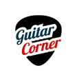 guitar pick in flat style music store logo vector image vector image