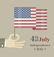 hand holding american national vector image vector image