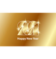 happy new year 2021 golden text design 2021 gold vector image vector image