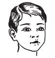 head a boy vintage engraving vector image vector image