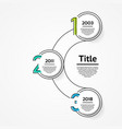 infographic template for diagram graph vector image vector image