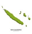 Isometric map of New Caledonia detailed vector image vector image