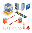 isometric parking isometric elements set icons vector image vector image