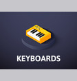 keyboards isometric icon isolated on color vector image vector image