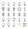 light bulb set creation kit outline icon vector image