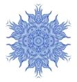 Mandala design or snowflake in dark blue vector image vector image