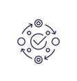 methodology icon on white line vector image