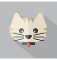 Modern Flat Design Cat Icon vector image