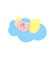 newborn baby girl dressed as princess sleeping on vector image vector image
