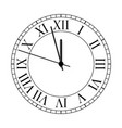 old clock on white background vector image