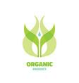 organic - logo template concept vector image vector image