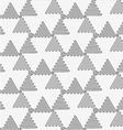 Perforated wavy triangles turned vector image vector image