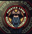 pirates mascot logo esport vector image vector image
