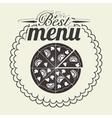 Pizza italian food vector image