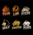 predator set logo vector image