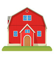 red capacious farm barn with two-storey and neat vector image vector image