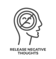 Release negative thoughts vector image vector image